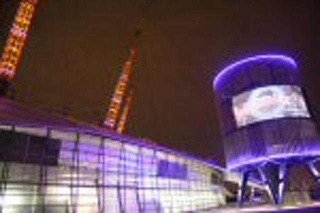 LED lights at the O2 controlled by Architen Landrell | LEDs