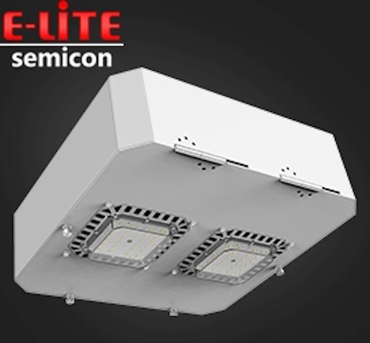 E-Lite introduces modular LED gas station canopy light and retrofit kit