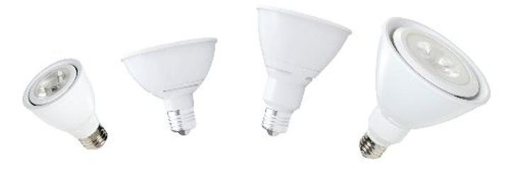 Halco Lighting Technologies' ProLED smooth-sided PAR lamps are dimmable to 5%