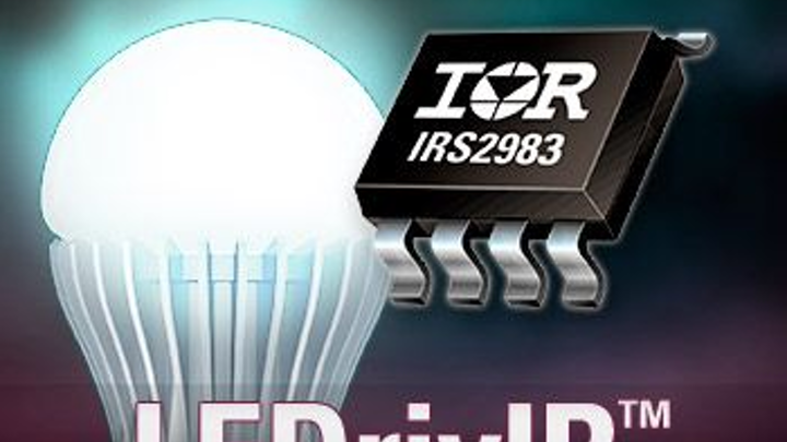 International Rectifier's IRS2983 LEDrivIR control IC simplifies design for LED dimming