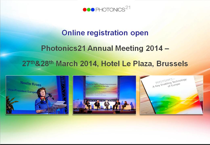 Photonics21 releases agenda for annual meeting, opens registration