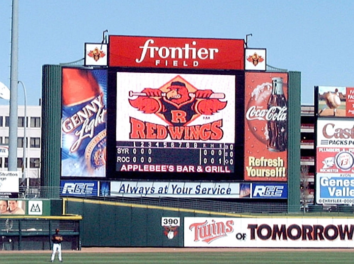 Frontier Field brings enhanced experience to minor league baseball fans with Daktronics LED video display