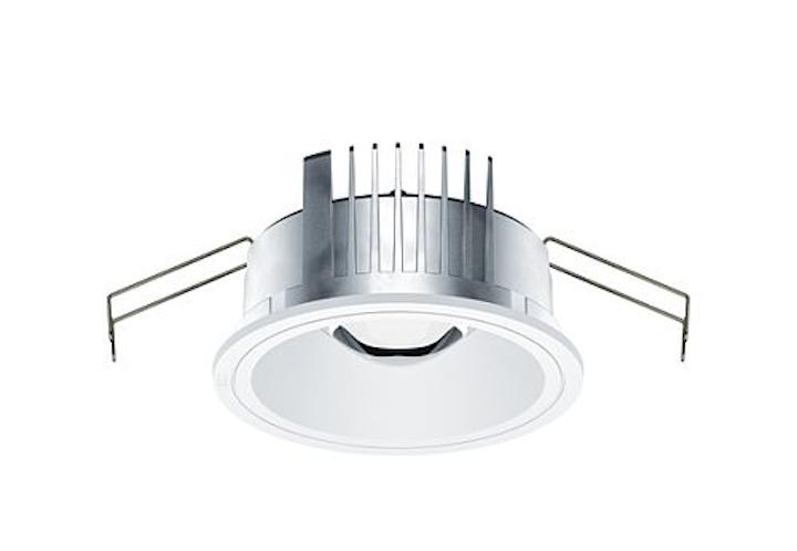 ERCO Skim recessed downlight uses free-form lenses for LED lighting