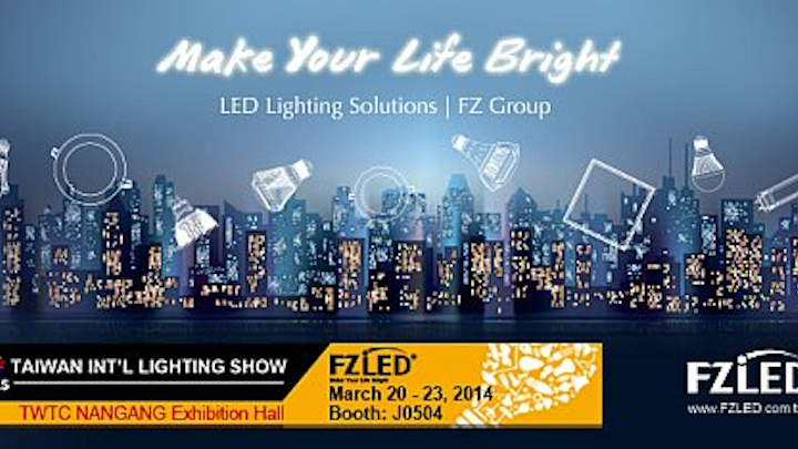 FZLED to show LED lamps and torch at Taiwan International Lighting Show 2014