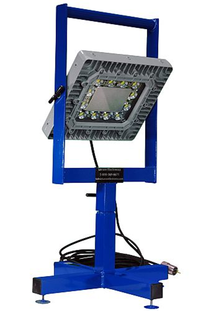 Larson Electronics' 150W explosion-proof LED light features non-sparking aluminum stand