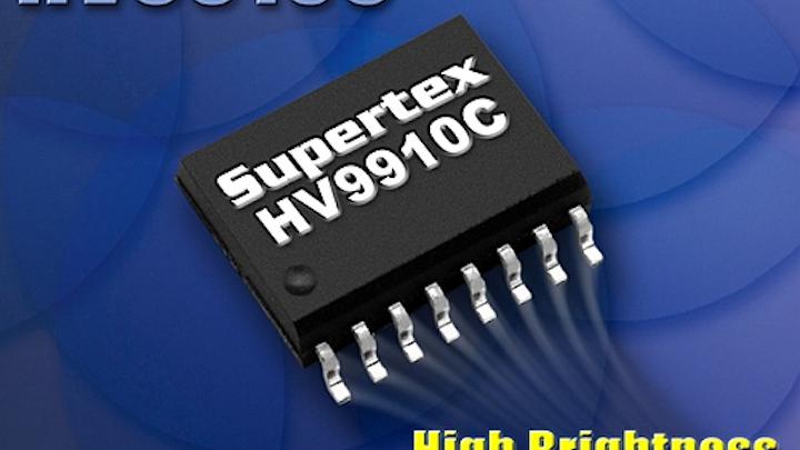 Supertex releases HV9910C LED driver IC with heat slug package