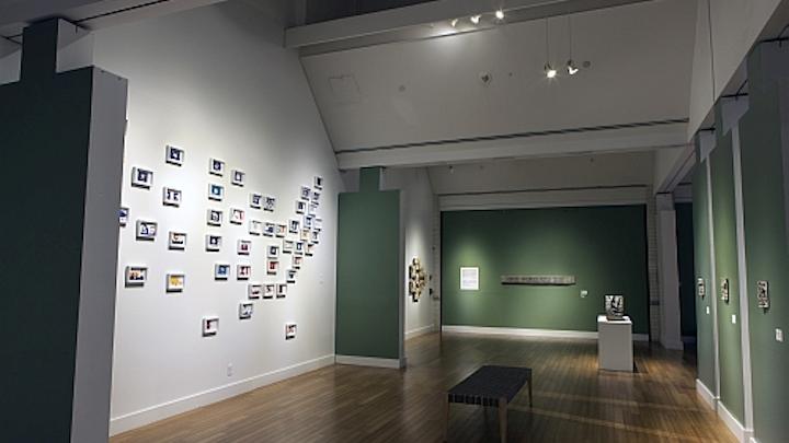 Journee LED track fixtures light contemporary art in Virginia Beach