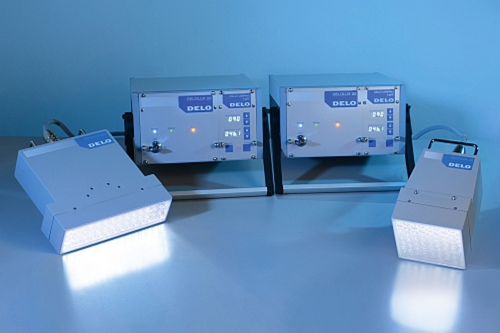 DELO LED lamps feature 365-nm wavelength for adhesive curing