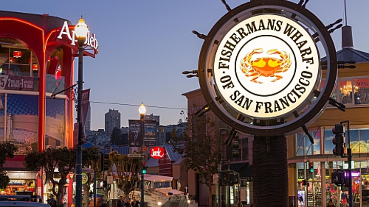 GE Lighting and Arrow Sign restore landmark San Francisco 'crab wheel' with LED sign lighting