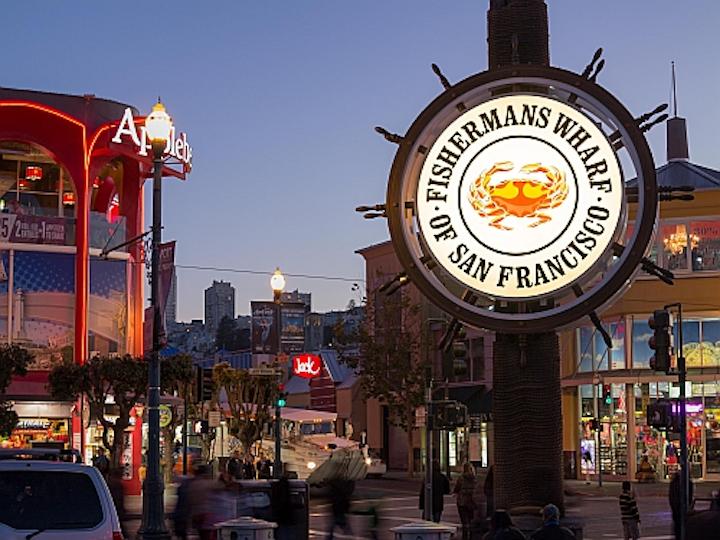 GE Lighting and Arrow Sign restore landmark San Francisco 'crab wheel' with LED sign lighting