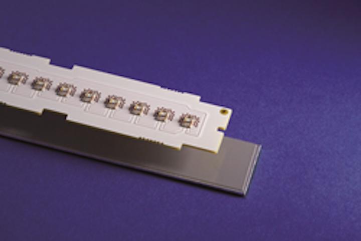 Bergquist's Bond-Ply 800 pressure-sensitive adhesive eliminates fasteners for lighting