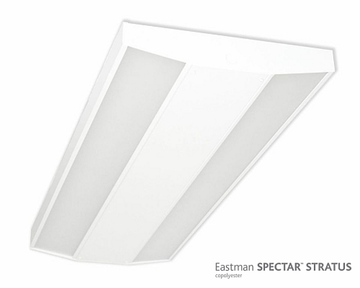Eastman Spectar Stratus copolyester material offers high-transmission light diffusion for solid-state lighting