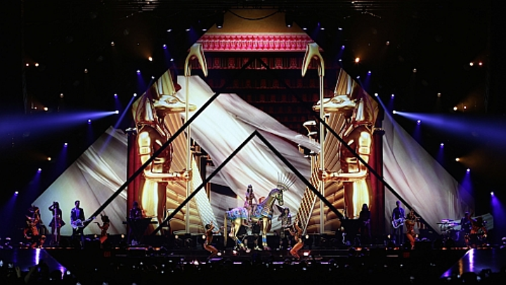 PRG Nocturne LED video screens shape Katy Perry's Prismatic World Tour