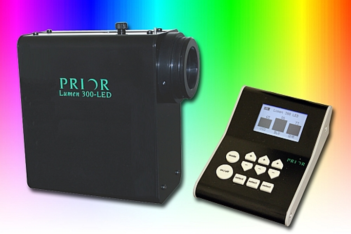 Prior Scientific's illumination system provides broad-spectrum LED light for fluorescence microscopy