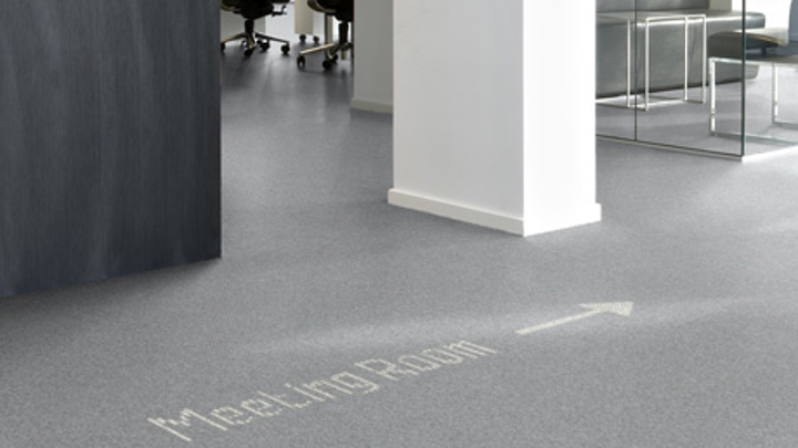 Luminous LED carpets from Philips and Desso are demonstrated at Architecture Biennale event