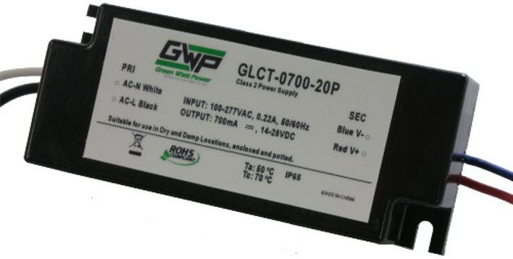Green Watt Power releases 20W constant-current dimmable LED power supplies