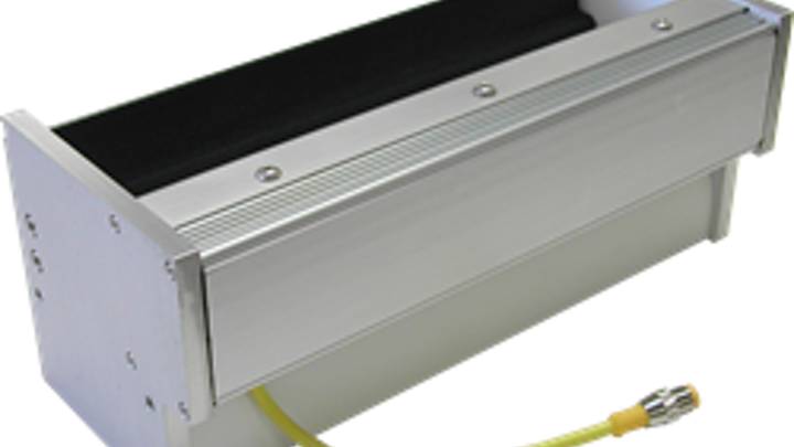 Smart Vision Lights' TL305 LED light illuminates reflective products in industrial inspection process