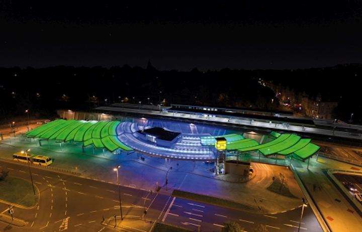 Insta Elektro RGBW LED luminaires and controls produce artistic lighting effects at Essen-Steele transport hub