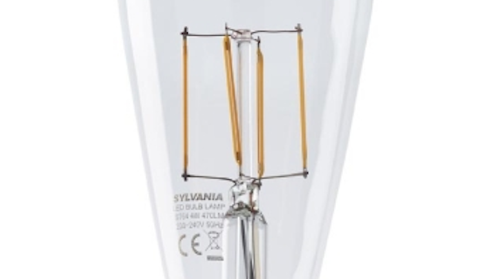 Sylvania introduces LED filament lamps with 2700K CCT for hospitality and residential lighting applications