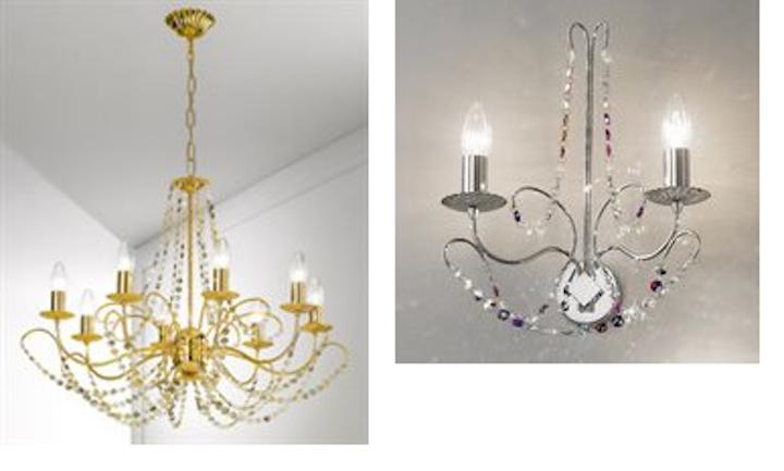Kolarz launches Ballerina chandelier enhanced with optional colored Swarovski crystals