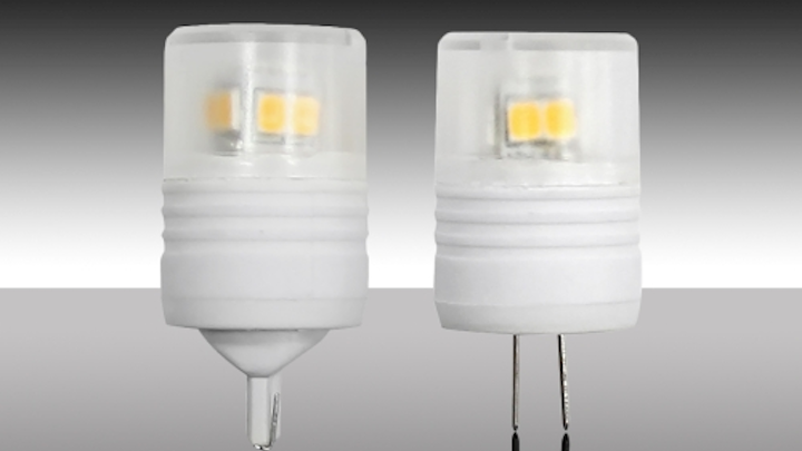 MaxLite introduces LED miniature lamps for halogen replacement in low-voltage lighting applications