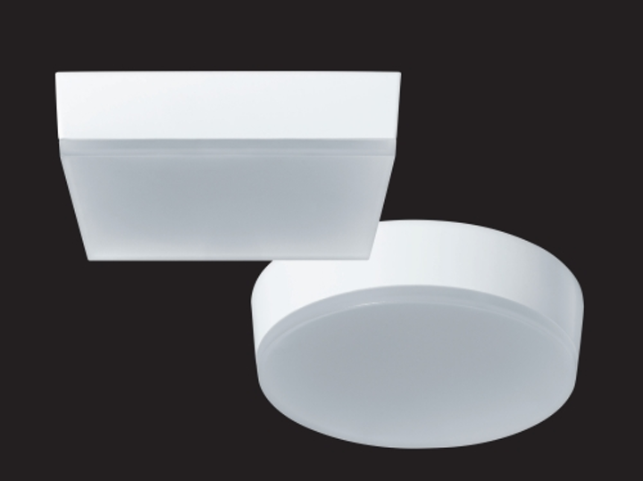 RAB Lighting's 9W SKEET LED surface-mount fixture fits on standard junction boxes