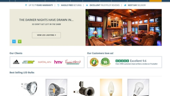 Simple Lighting launches Magento website with e-commerce and knowledge base for lighting customers