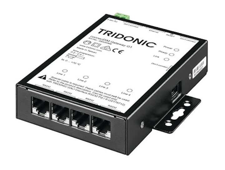 Tridonic connecDIM light management system decentralizes lighting monitoring and controls