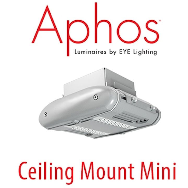 EYE Lighting introduces Aphos Mini Series LED luminaires for parking garages and other rugged applications
