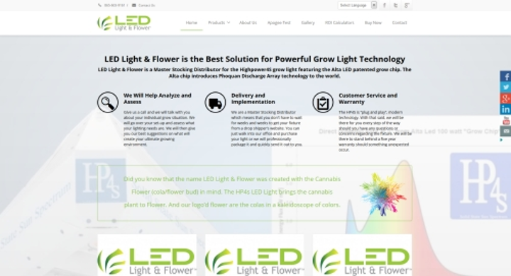 LED Light & Flower unveils new website dedicated to LED horticultural lighting
