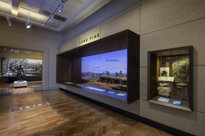 Gantom LED fixtures light First World War Galleries in Australia museum lighting application