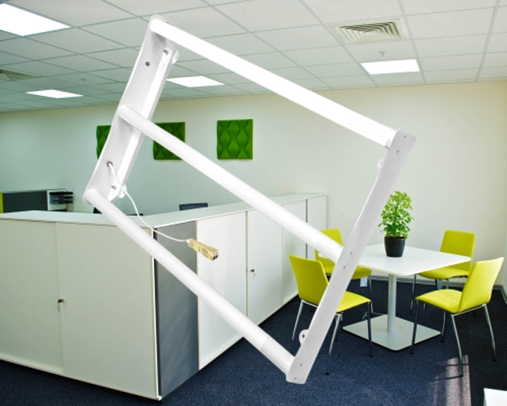 Litetronics offers 2x2-ft LED troffer retrofit kits for linear fluorescent replacement