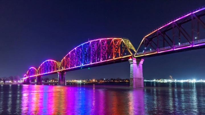 Louisville lights Big Four Bridge with dynamic Philips LED architectural lighting system