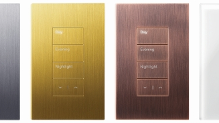 Lutron's Palladiom QS keypad provides high-end aesthetic for home and commercial building controls