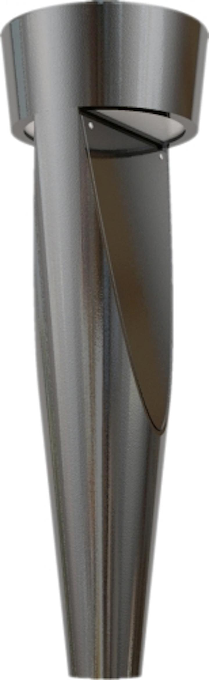 U.S. Architectural Lighting introduces Tornado bollard with optional LED light source