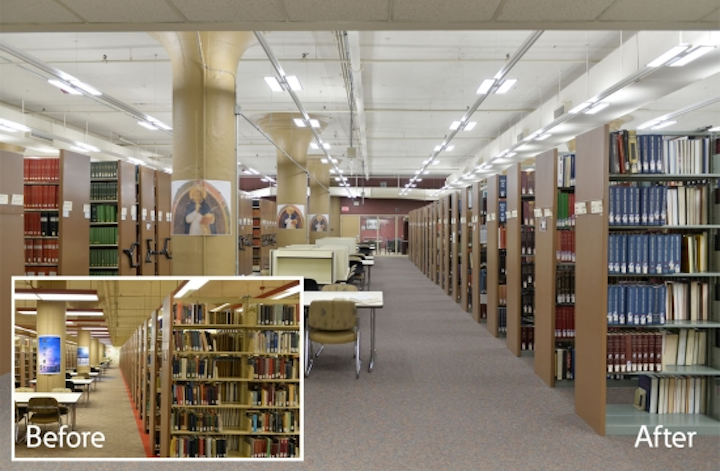Led Lighting In Library