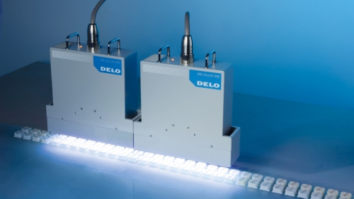 DELO LED lamps for UV curing reach intensity of 600 mW per sq. centimeter