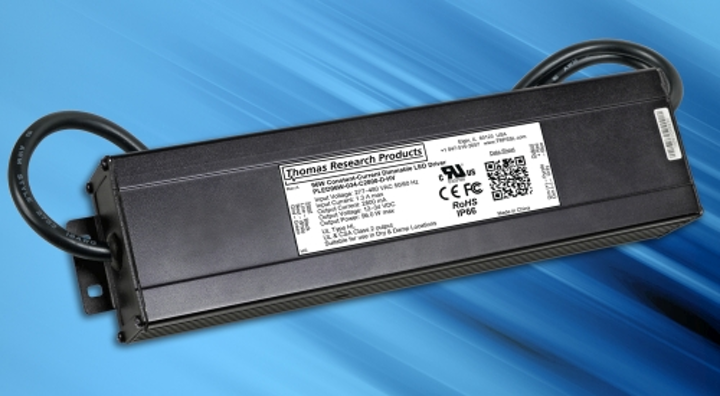 Thomas Research Products eliminates step-down transformers for luminaires with new 277-480V LED drivers
