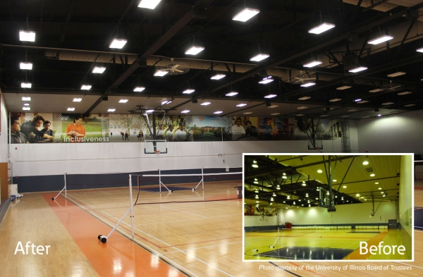 Cooper supplies LED high-bay lighting for University of Illinois gyms