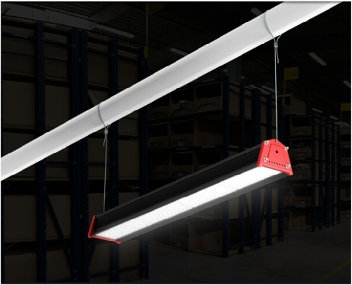 OK LED's HiRack LED warehouse aisle light is selected for Polish factory retrofit