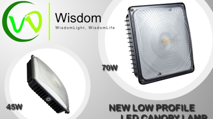 Wisdom releases low-profile LED low-bay light fixture in 45W and 70W versions