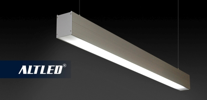 Aeon Lighting Technology's suspended linear LED fixture uses T8 tubes