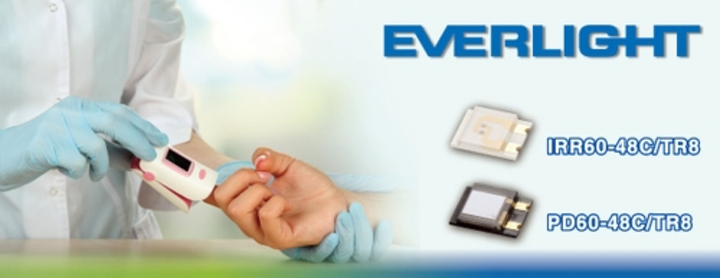 Everlight Electronics' IR emitter and PIN photodiode are used in life science applications such as oximeters