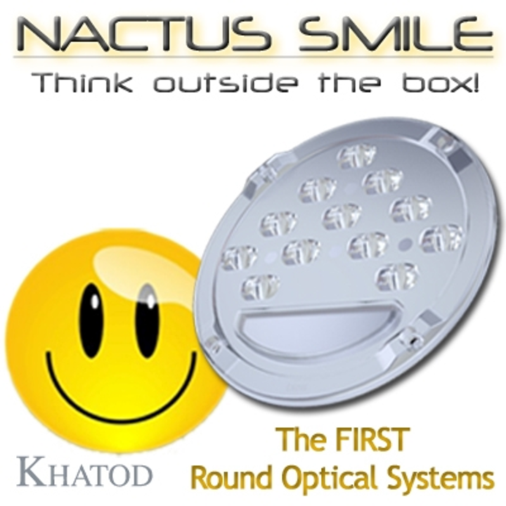 Khatod Nactus Smile LED optical system enables various beam angles for area lighting
