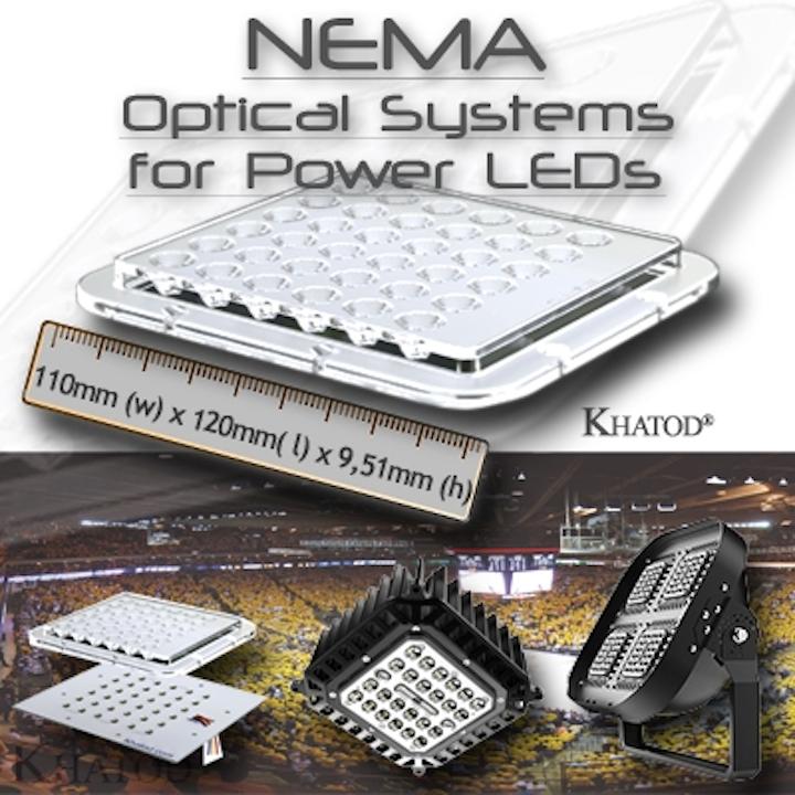 Khatod's LED optics deliver high-intensity illumination for arena lighting