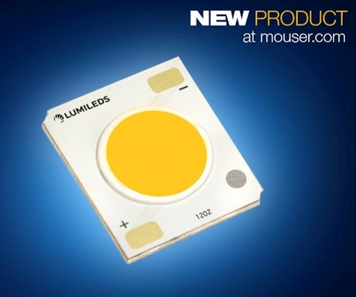Mouser Electronics carries Lumileds' compact-range Luxeon COB LEDs