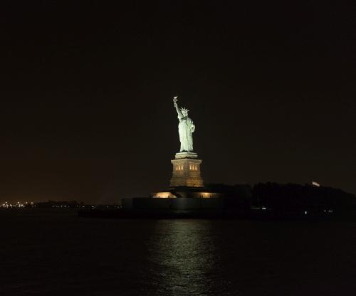 LEDs brighten freedom monument on New York's historic Ellis Island. Source: Musco Lighting