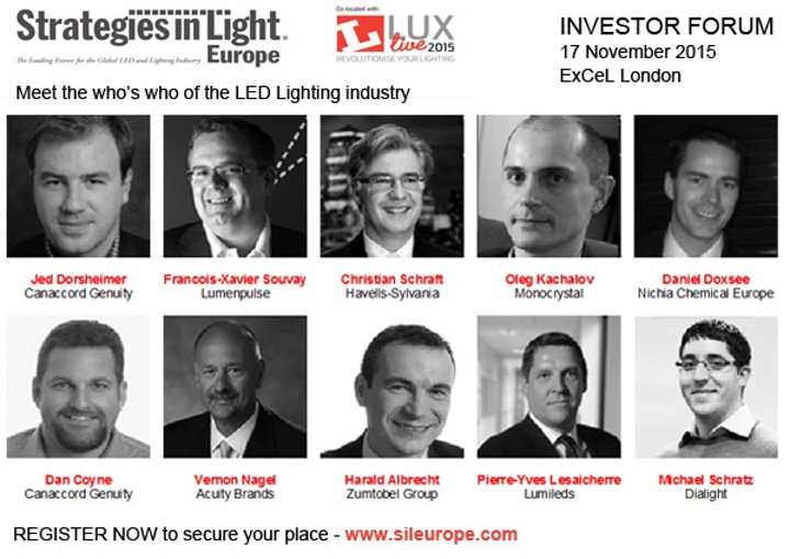SIL Europe Investor Forum provides the expert's view on opportunities in LED and lighting industry