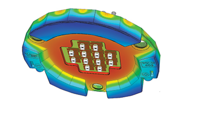 Accurate thermal simulation enables LED lighting products to match design goals