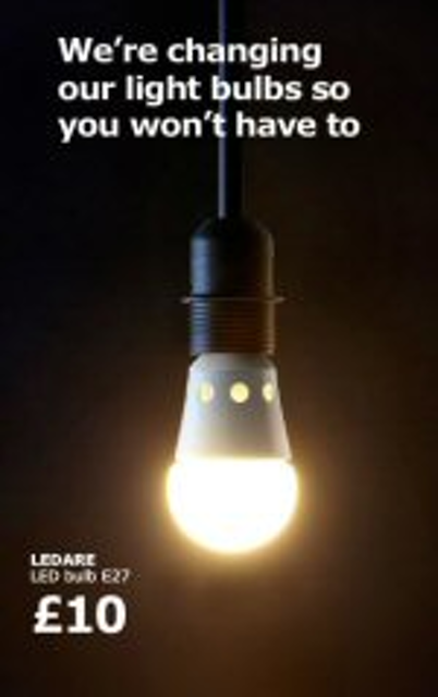 Ikea S Will Only Led Lighting By 2017 Leds Magazine
